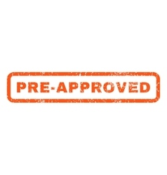 Pre-Approved Rubber Stamp vector image