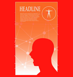 profile of the head of a man brochure template vector image