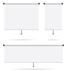projector screen set vector image