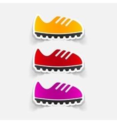 Realistic design element sneakers vector