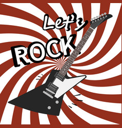 Rock guitar poster music promo flyer vector