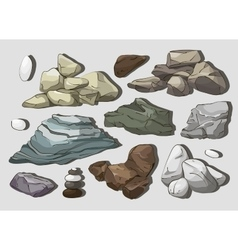 Rocks and stones elements vector