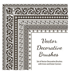 Set of decorative brushes vector
