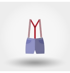 Shorts with suspenders Rompers Icon vector