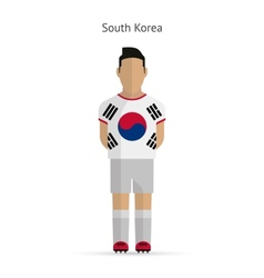 South Korea football player Soccer uniform vector image