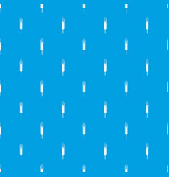 Stalk of ripe barley pattern seamless blue vector
