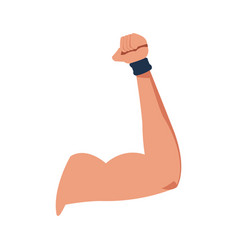 Strong arm muscle fitness icon vector