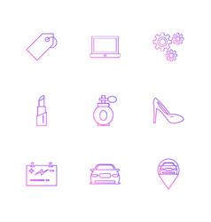 Tag laptop gear scandal navigation perfume vector