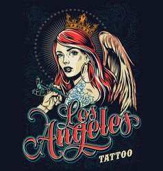 Tattoo fest in los angeles poster vector