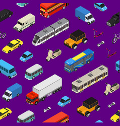 transport car 3d seamless pattern background vector image