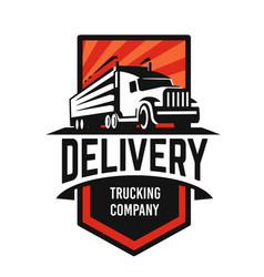 truck logo template with text delivery vector image