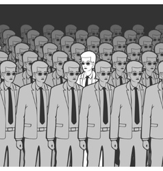 Unique Man in the Crowd vector image
