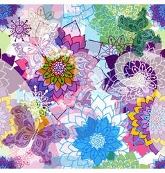 Vivid spring seamless pattern vector