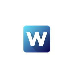 W modern gradation shadow letter logo icon design vector