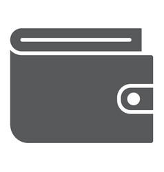 wallet glyph icon e commerce and marketing vector image