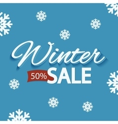 Winter discounts promotional poster vector image