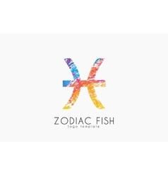 Zodiac fish logo Fish symbol logo Creative logo vector
