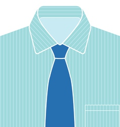 Blue Shirt and Tie vector image vector image