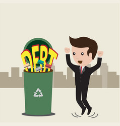 businessman no debt debt concept business man vector image vector image