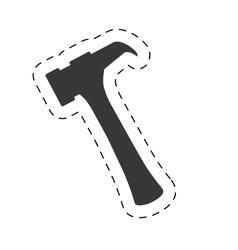 hammer tool equipment repair pictogram vector image