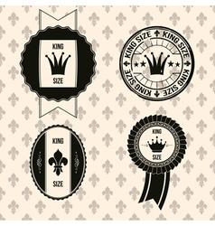 king royal labels vector image