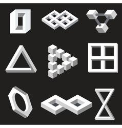 Optical symbols vector