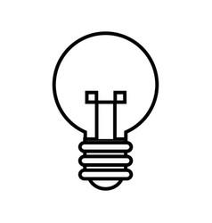 bulb light idea mind creativity icon outline vector image