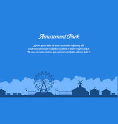 collection stock of amusement park scenery vector image