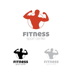 Fitness sport center logo vector image vector image