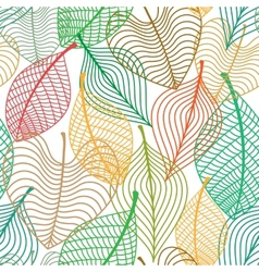 Seamless pattern of colorful leaves vector image vector image