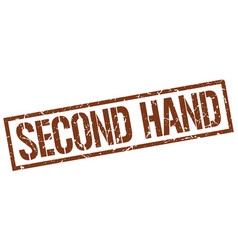 Second hand stamp vector