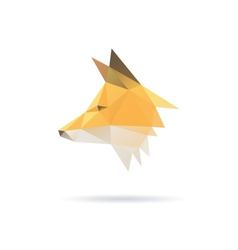 Fox head abstract isolated vector image