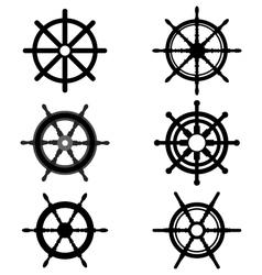 rudders vector image vector image
