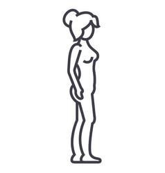woman body profilefemale silhouette line vector image