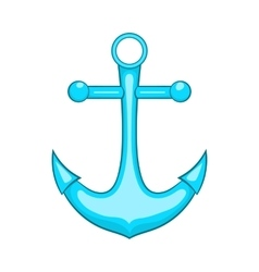 Anchor icon in cartoon style vector image
