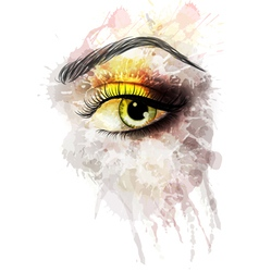 Eye made of colorful splashes vector image vector image