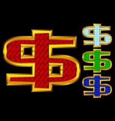 gold dollars vector image