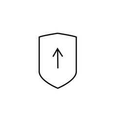 security report upload icon vector image