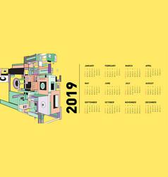2021 new year calendar design template vector