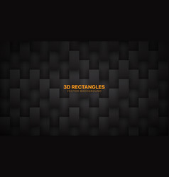 3d rectangular particles technological dark vector