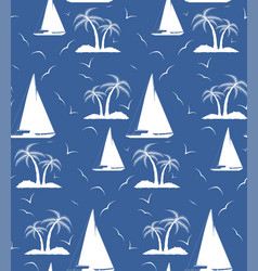 a seamless repeating pattern of palm trees and vector image