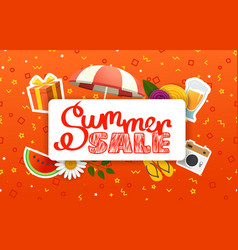 abstract color sale banner template summer sale vector image