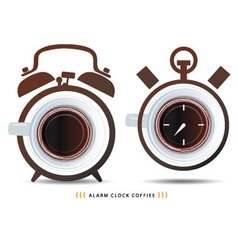 Alarm clock coffiee vector