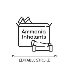 Ammonia inhalants linear icon vector