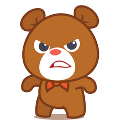 Angry bear character art vector