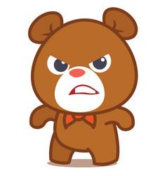 Angry bear character art vector