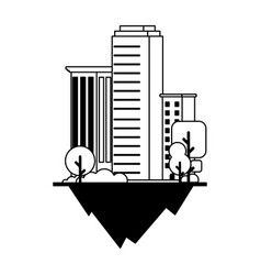 Apartment and office buildings urban landscape vector