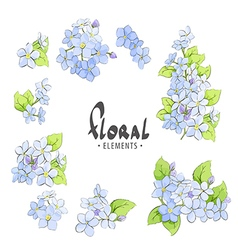Bright blue forget-me vector