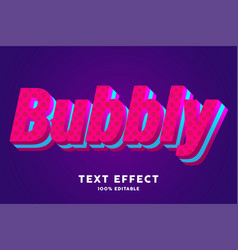 bubbly red blue fresh text effect vector image
