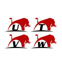 bull power template set vector image